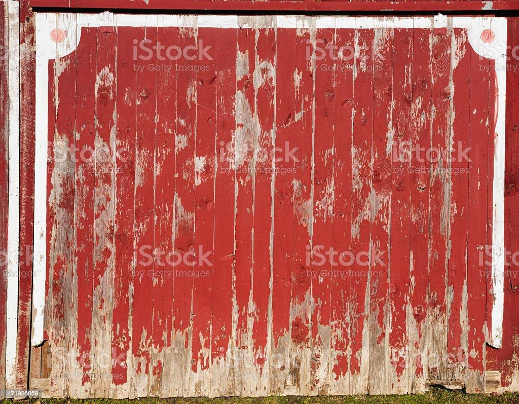 red barn door. Old Red Barn Door Stock Photo