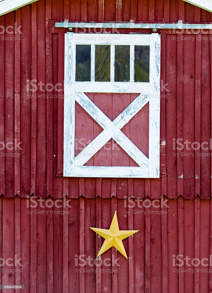 Old Red Barn Door Royalty Free Stock Photo