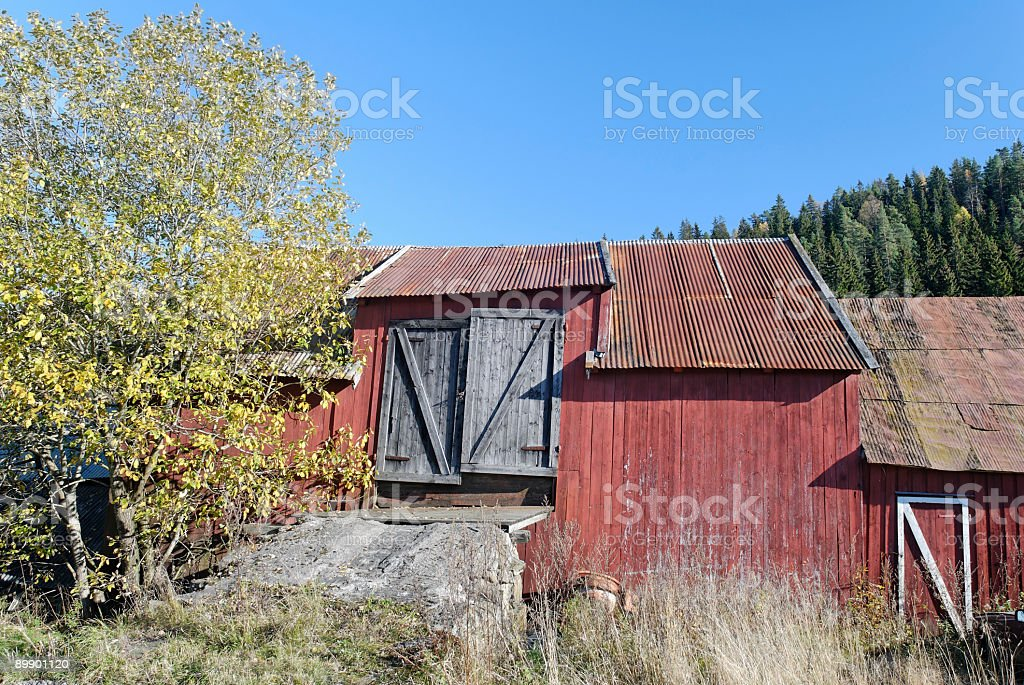 Old Red Barn royalty-free stock photo