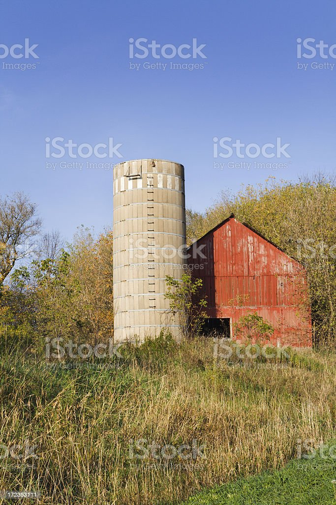 Old Red Barn Vt royalty-free stock photo