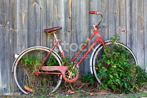 Forgotten Old Red Bicycle