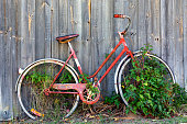 istock Old Red Bicycle 1060021212