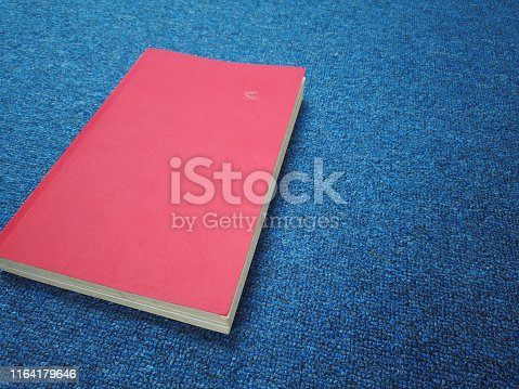 508711370 istock photo old red book in office 1164179646
