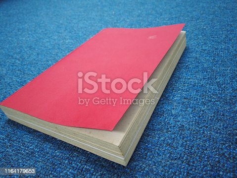 508711370 istock photo old red book in office 1164179653
