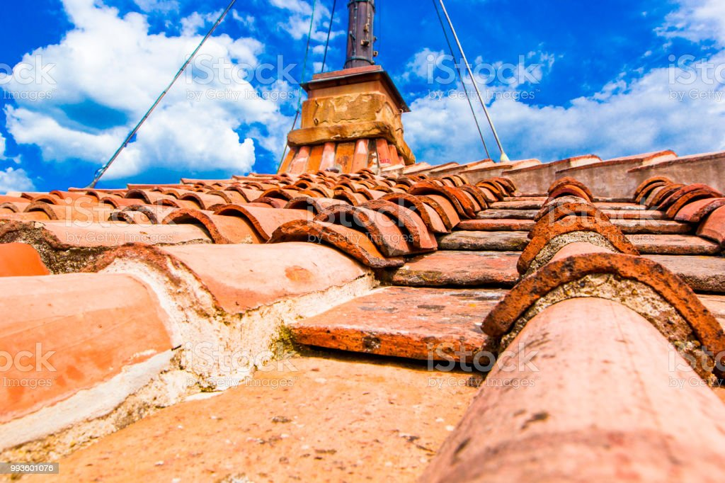 Old Red Brick Roof Tiles From North On Roofs Of Italian Houses And Churches Florence Tuscany Italy Stock Photo Download Image Now Istock