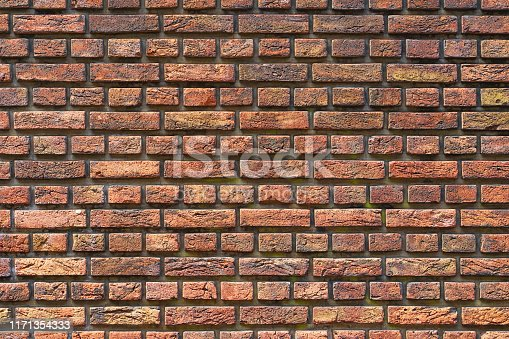 905087856istockphoto Old red brick wall background 1171354333