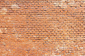 old red brick wall, background, texture