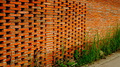 Thailand, Brick Wall, Brick, Backgrounds, Red