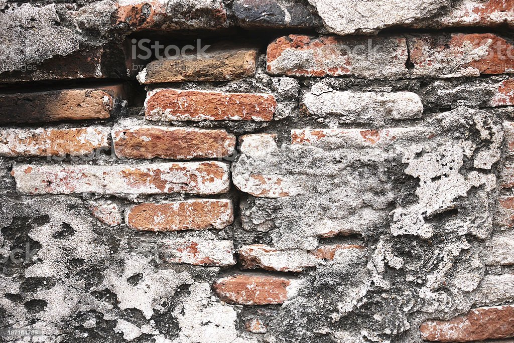old red brick wall texture background royalty-free stock photo