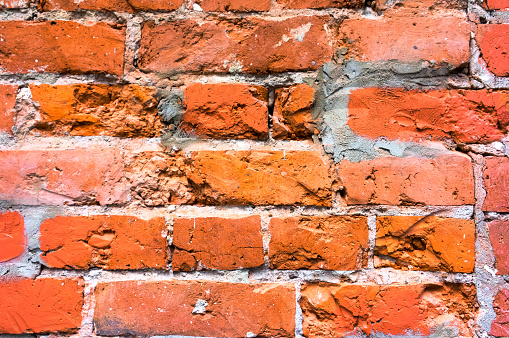old red brick wall texture
