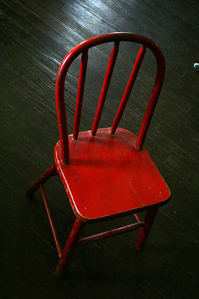 old red chair stock photo