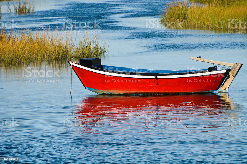 Old Red Dory royalty-free stock photo