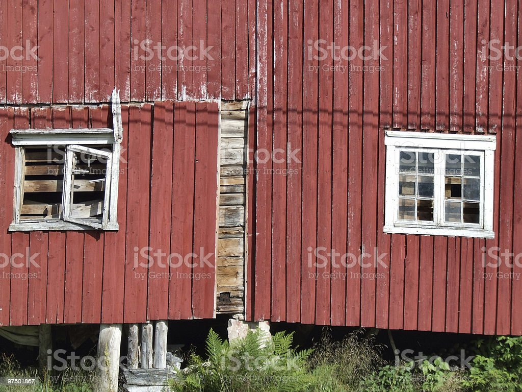 Old red farm building royalty-free stock photo