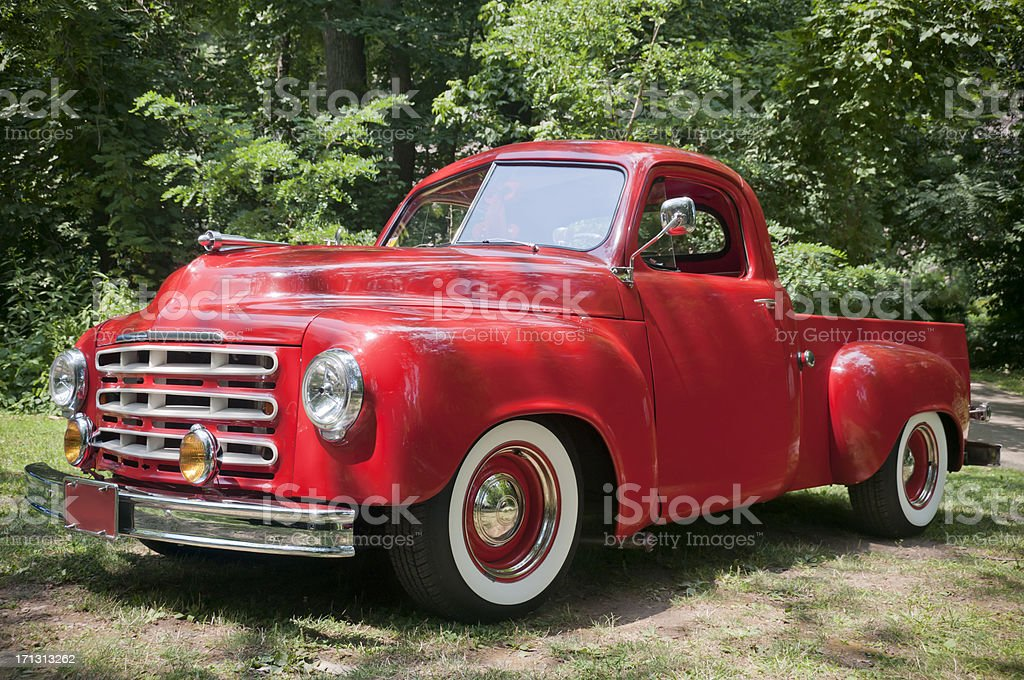 Old Red Farm Truck stock photo