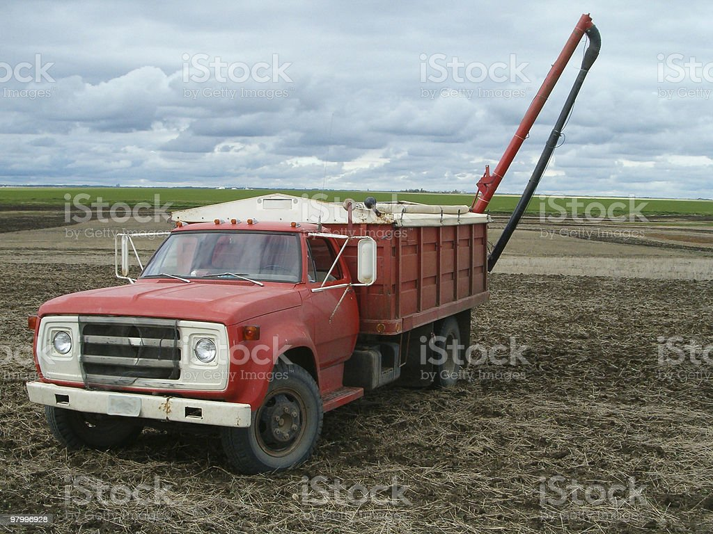 Old Red Farm truck royalty-free stock photo