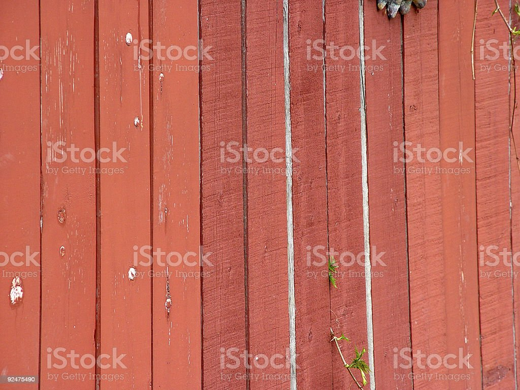 Old red fence royalty-free stock photo