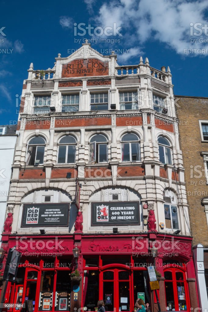 Old Red Lion Pub Theatre In Islington London Stock Photo