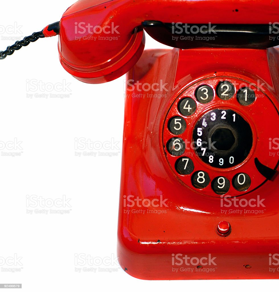 Old Red Phone royalty-free stock photo