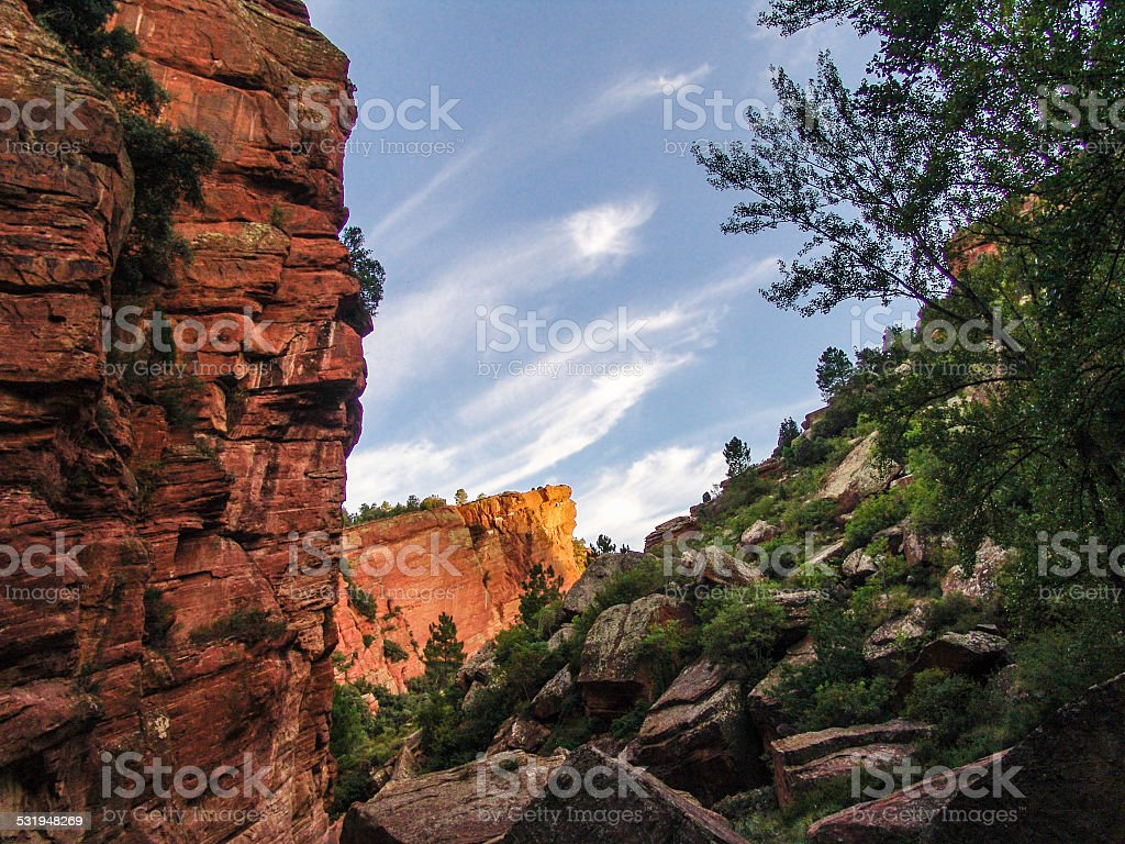 Old Red Sandstone_3 stock photo