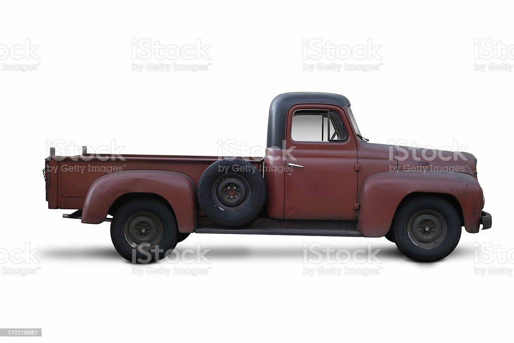 Old Red Truck, Revised royalty-free stock photo