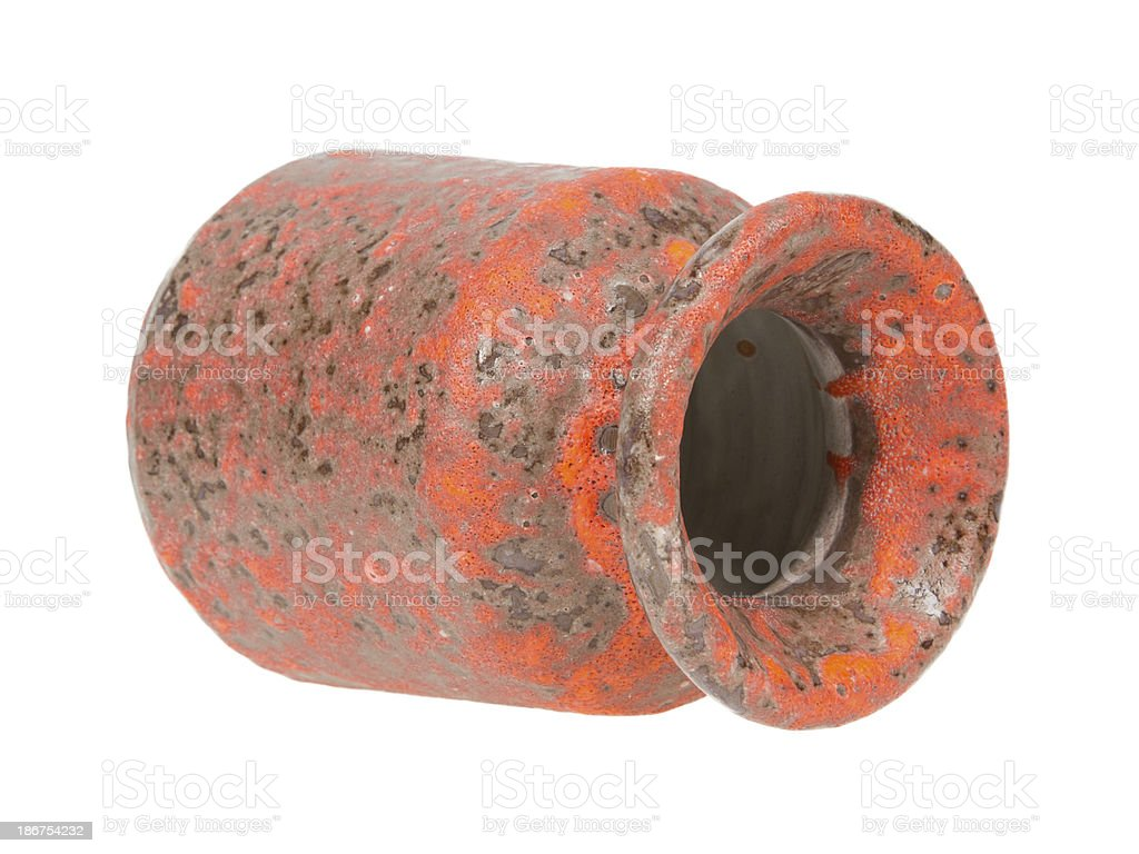 Old red vase from clay, the handwork royalty-free stock photo