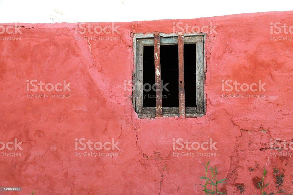 Old Red Wall for Background royalty-free stock photo