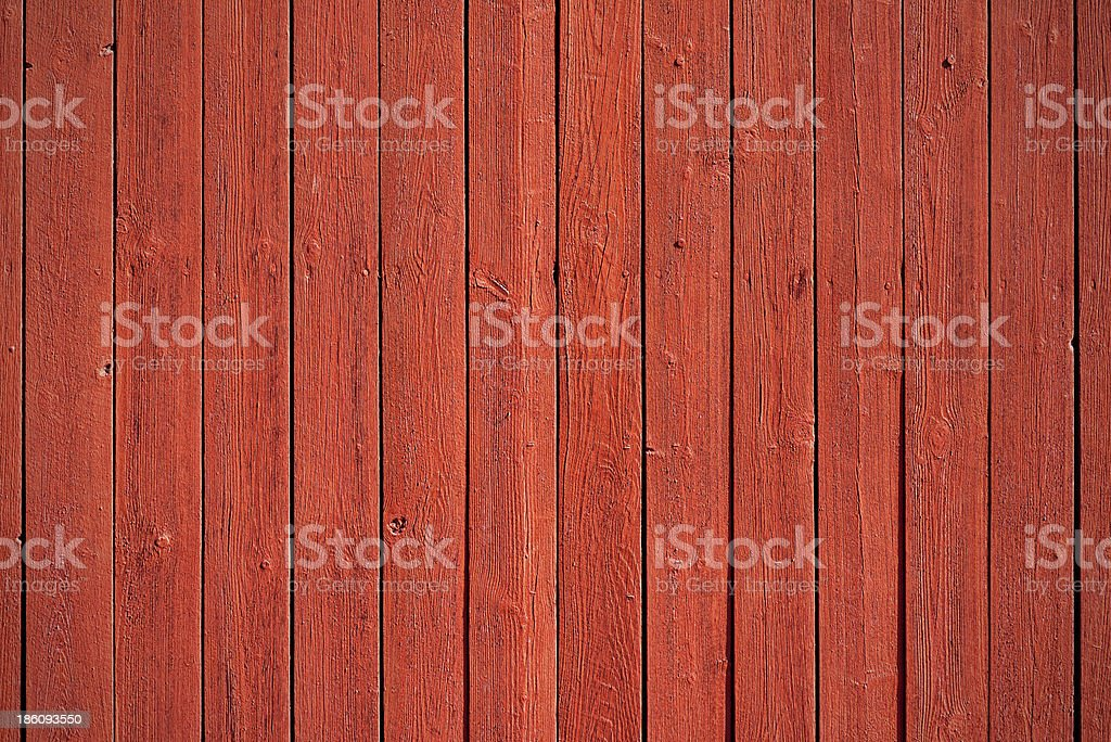 Old red wood panels stock photo