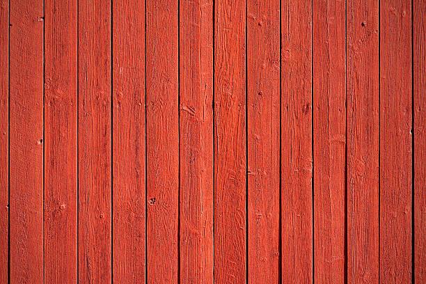 Old red wood panels bildbanksfoto