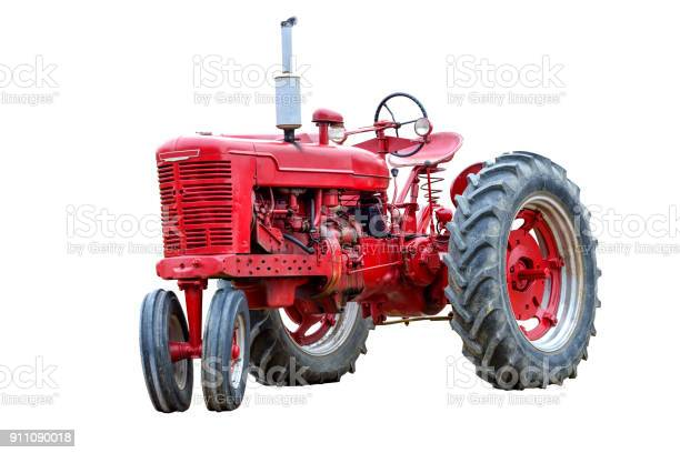 Old red work tractor isolated on white picture id911090018?b=1&k=6&m=911090018&s=612x612&h=g2neyfhseyn925uplkb78iotxjtcpoanlf2lm6 tje8=