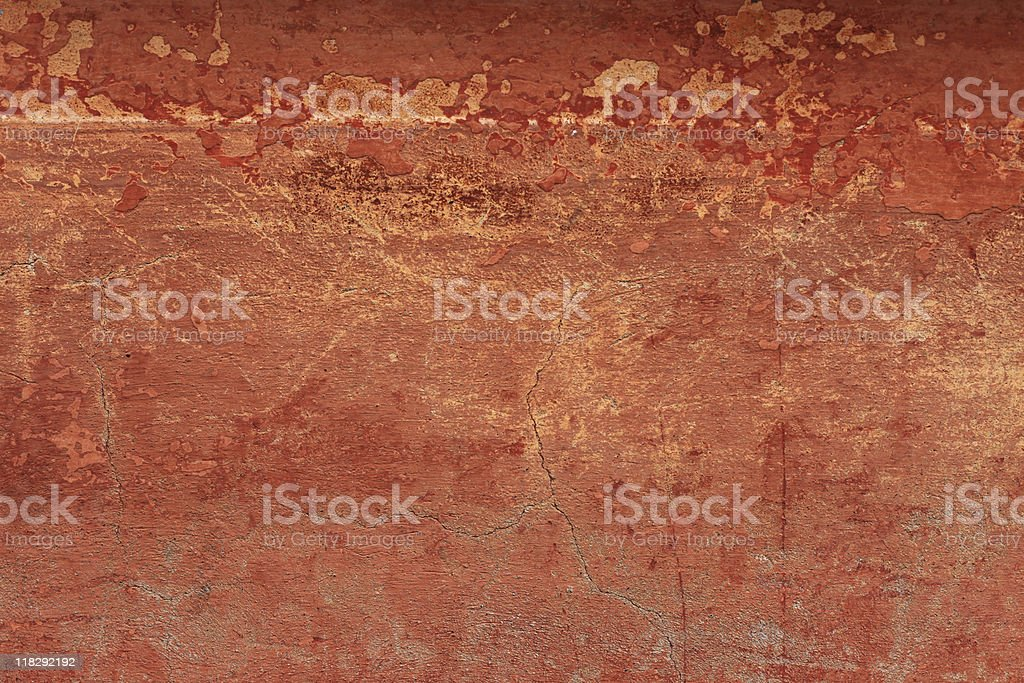 Old reddish grungy wall texture with cracks  (XXXL) stock photo