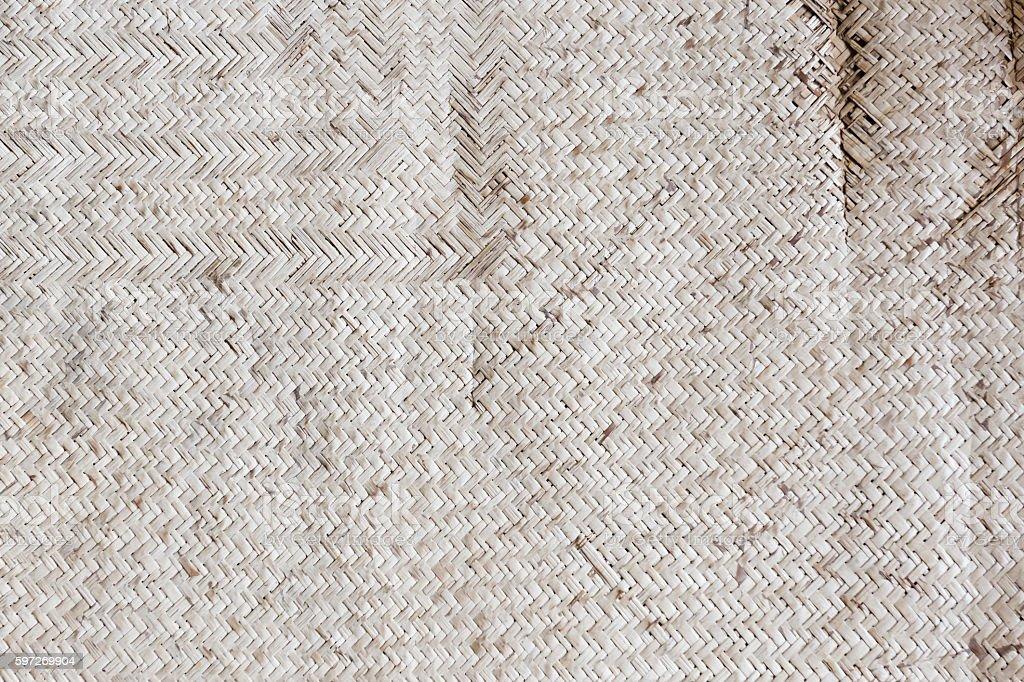 Old reed mat pattern Lizenzfreies stock-foto