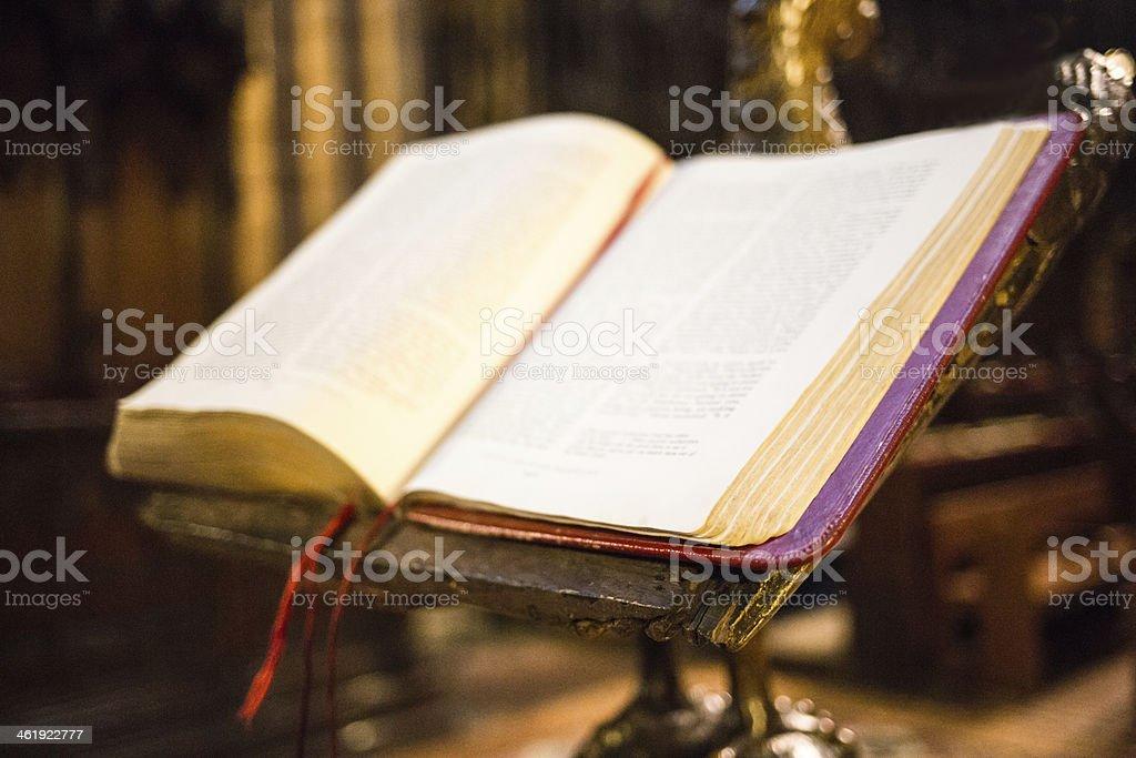 Old Religious Book stock photo