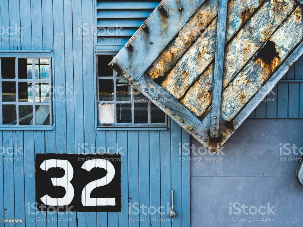 Old Renovated Crane Background royalty-free stock photo