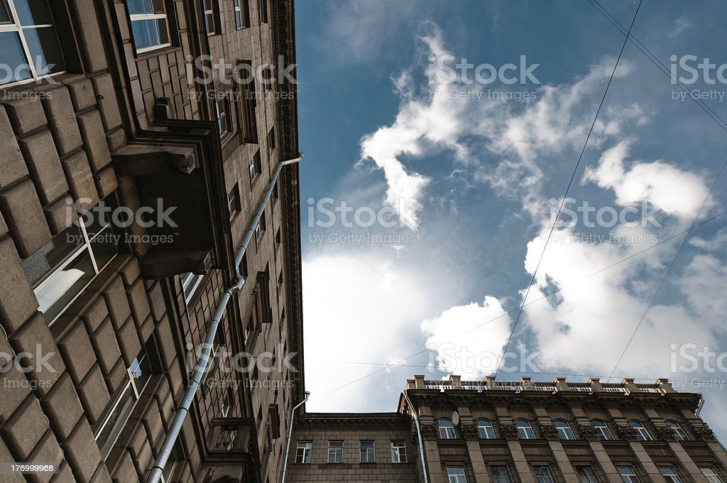 Old residential house view royalty-free stock photo
