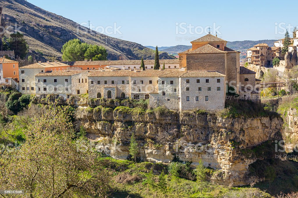 Old restored convent of Cuenca, Spain royalty-free stock photo