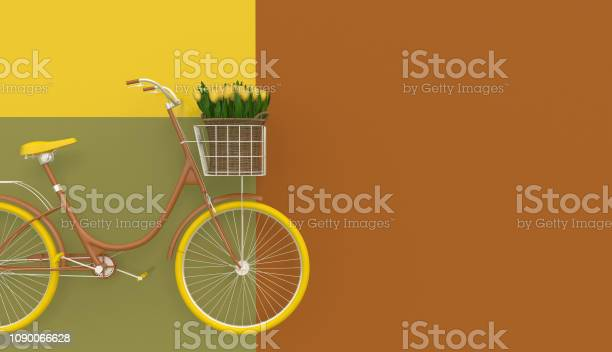 Old retro bicycle in brown with yellow wheels and yellow flowers in a picture id1090066628?b=1&k=6&m=1090066628&s=612x612&h=ydx3xn1iiqjjxoougpdah4izkoyhqh1ijoffdpz7mzi=