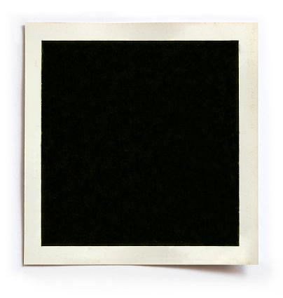 Old Retro Blank photo on white Background.