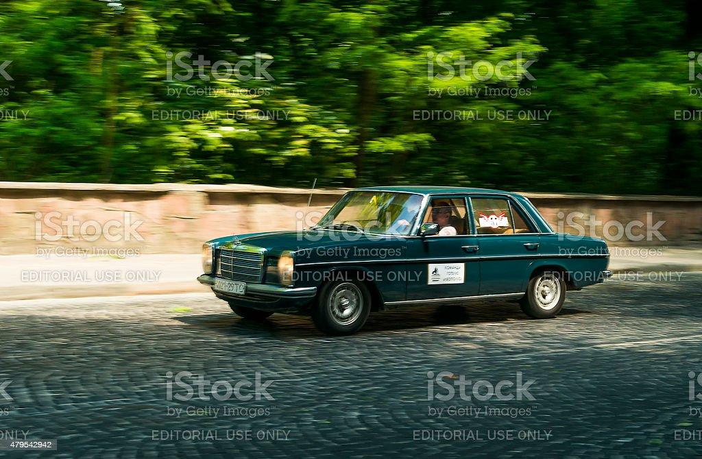 Old retro car Mercedes Benz 115 stock photo