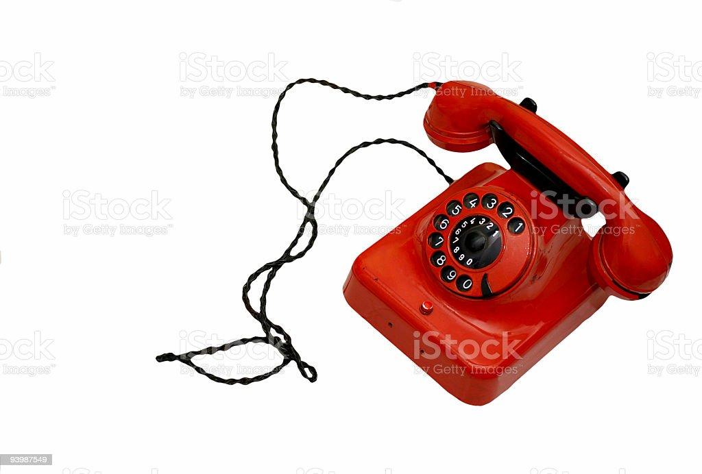 Old retro phone royalty-free stock photo