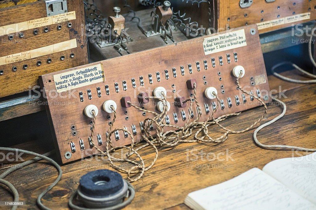 old retro radio equipment - Alte Radiostation stock photo