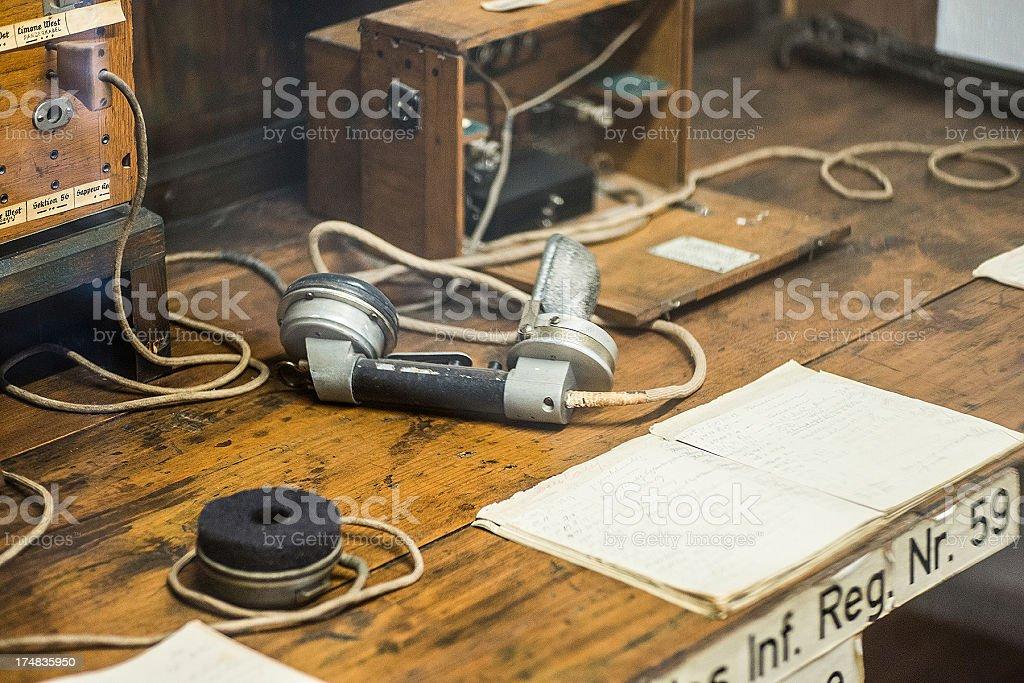 old retro radio equipment stock photo