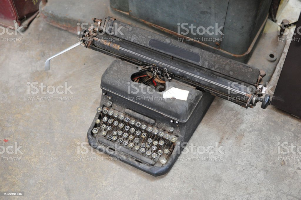 the old retro vintage type writer so classic manual machine...