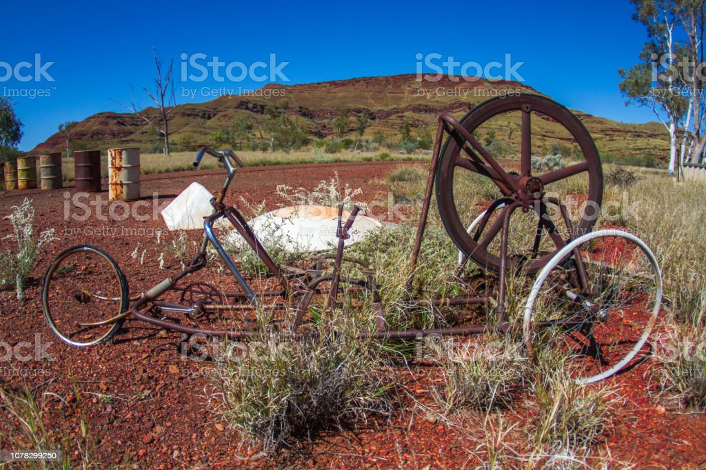 Old Retro Weird Bike Abandoned Town Of Wittenoom Outback Australia