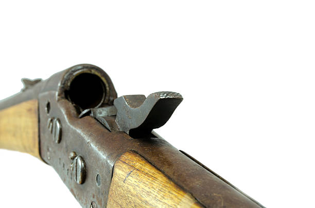 Old Rifle With Bolt Open Stock Photo - Download Image Now