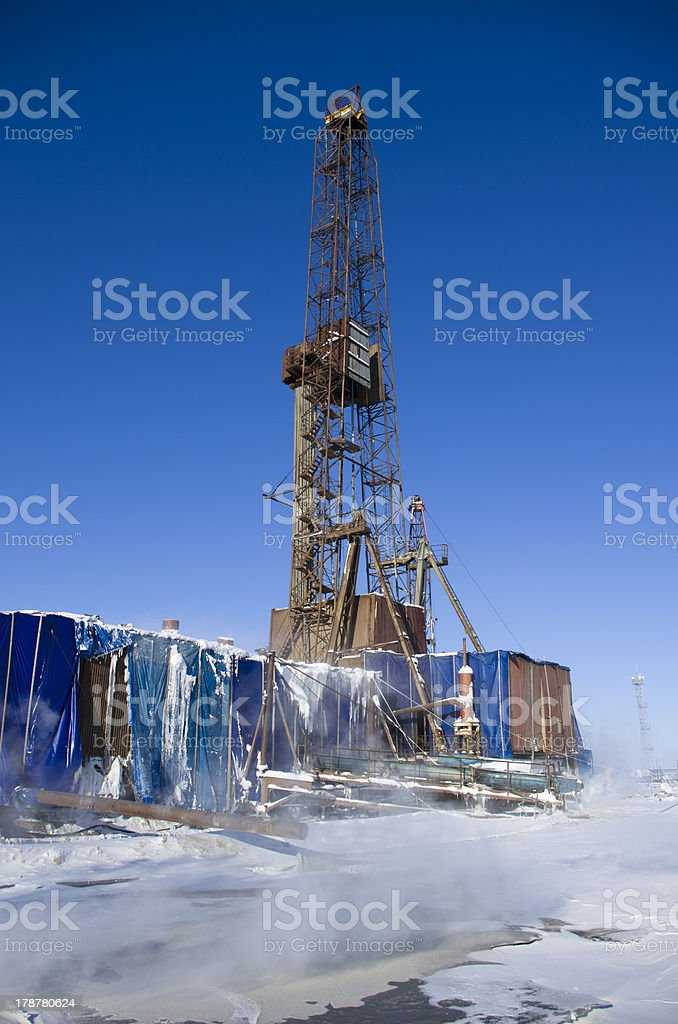 Old rig royalty-free stock photo