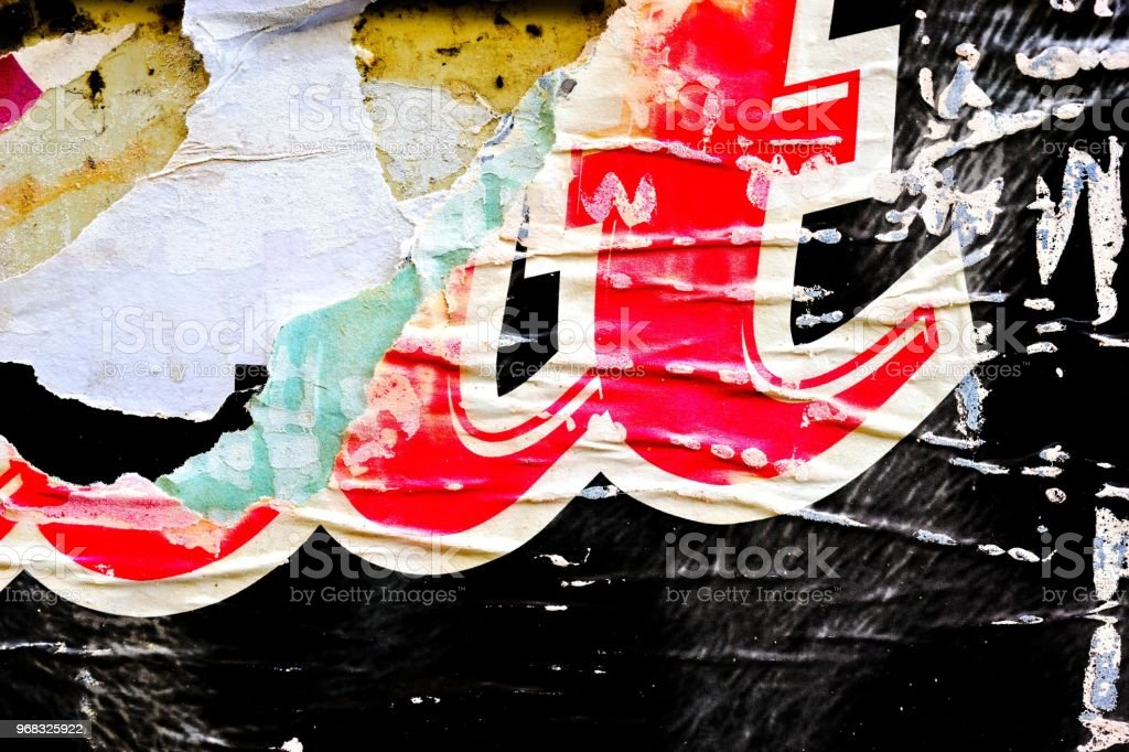 Old Ripped Torn Paper Crumpled Creased Posters Grunge Textures
