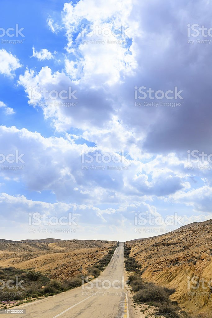 Old Road into the desert royalty-free stock photo