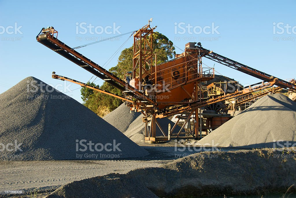 Old Rock Crusher At A Quarry royalty-free stock photo