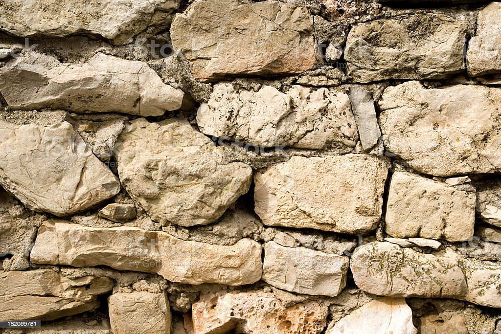 Old Rock Wall royalty-free stock photo