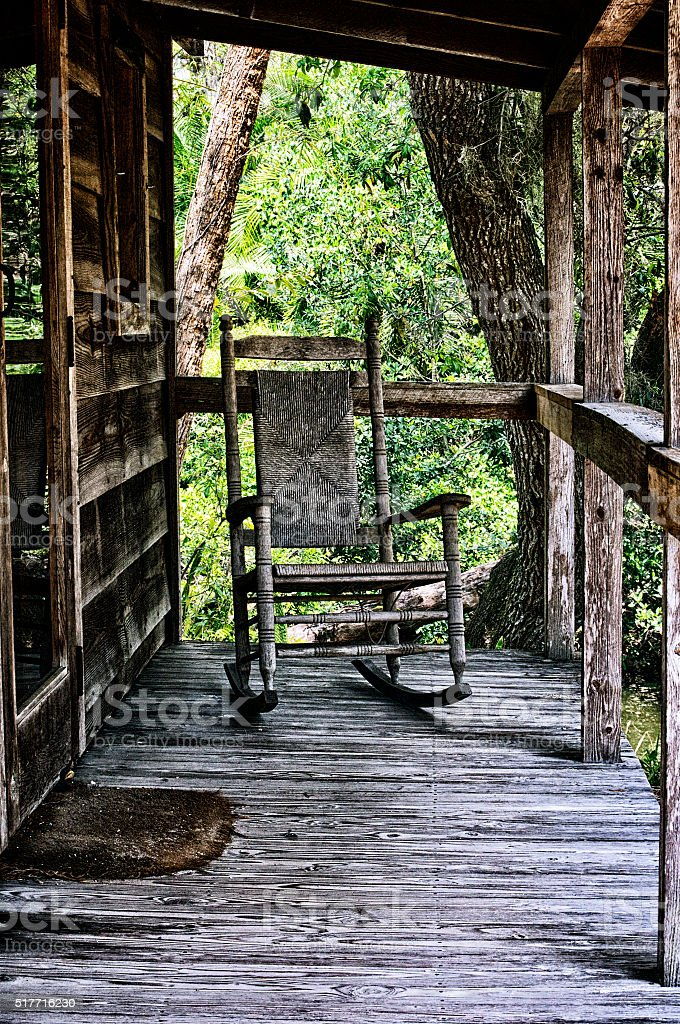Prime Old Rocking Chair On Porch Of House Stock Photo Download Ibusinesslaw Wood Chair Design Ideas Ibusinesslaworg
